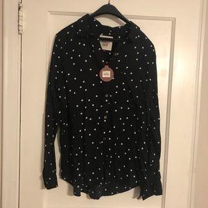 NWT SO Polka Dot Button Down Shirt